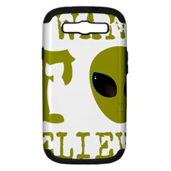 I Want To Believe Samsung Galaxy S Iii Hardshell Case (pc+silicone)