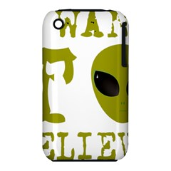 I Want To Believe Apple Iphone 3g/3gs Hardshell Case (pc+silicone)
