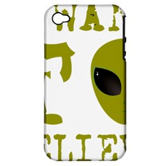 I Want To Believe Apple Iphone 4/4s Hardshell Case (pc+silicone)