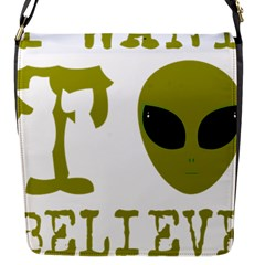 I Want To Believe Flap Messenger Bag (s)