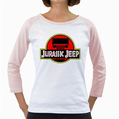 Jurassic Jeep Park Girly Raglans
