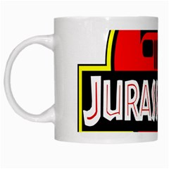 Jurassic Jeep Park White Mugs
