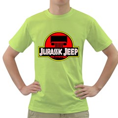 Jurassic Jeep Park Green T Shirt