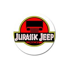 Jurassic Jeep Park Magnet 3  (round)