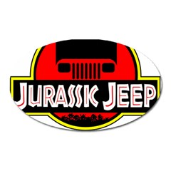 Jurassic Jeep Park Oval Magnet