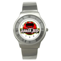 Jurassic Jeep Park Stainless Steel Watch