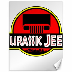 Jurassic Jeep Park Canvas 12  X 16