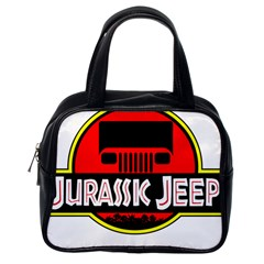 Jurassic Jeep Park Classic Handbags (one Side)