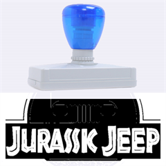 Jurassic Jeep Park Rubber Address Stamps (xl)