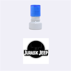 Jurassic Jeep Park Rubber Round Stamps (small)