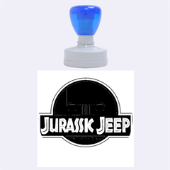 Jurassic Jeep Park Rubber Round Stamps (large)
