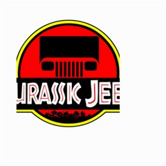 Jurassic Jeep Park Small Garden Flag (two Sides)