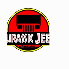 Jurassic Jeep Park Large Garden Flag (two Sides)