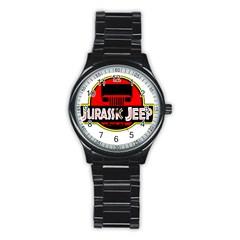 Jurassic Jeep Park Stainless Steel Round Watch