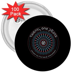 Twenty One Pilots Power To The Local Dreamder 3  Buttons (100 Pack)