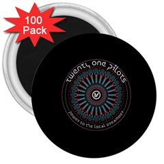 Twenty One Pilots Power To The Local Dreamder 3  Magnets (100 Pack)