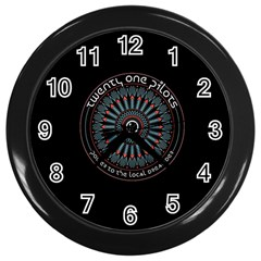 Twenty One Pilots Power To The Local Dreamder Wall Clocks (black)
