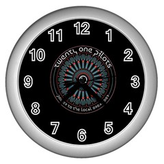 Twenty One Pilots Power To The Local Dreamder Wall Clocks (silver)
