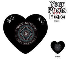 Twenty One Pilots Power To The Local Dreamder Playing Cards 54 (Heart)