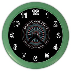 Twenty One Pilots Power To The Local Dreamder Color Wall Clocks