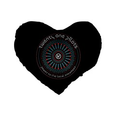 Twenty One Pilots Power To The Local Dreamder Standard 16  Premium Heart Shape Cushions