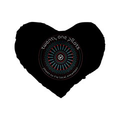 Twenty One Pilots Power To The Local Dreamder Standard 16  Premium Flano Heart Shape Cushions