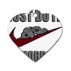 Just Do It Tomorrow Dog Tag Heart (one Side)