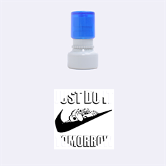 Just Do It Tomorrow Rubber Round Stamps (small)