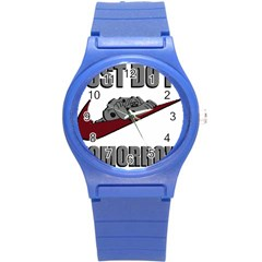 Just Do It Tomorrow Round Plastic Sport Watch (s)