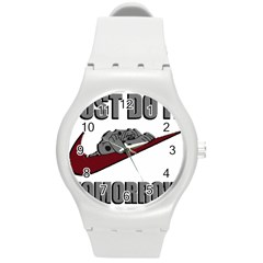 Just Do It Tomorrow Round Plastic Sport Watch (m)