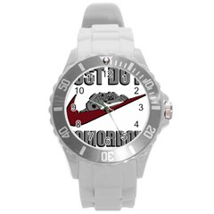 Just Do It Tomorrow Round Plastic Sport Watch (l)