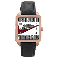 Just Do It Tomorrow Rose Gold Leather Watch