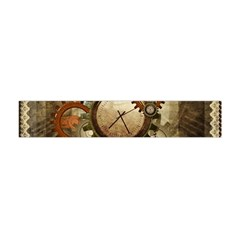 Wonderful Steampunk Design With Clocks And Gears Flano Scarf (mini)