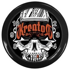 Kreator Thrash Metal Heavy Hard Rock Skull Skulls Wall Clocks (black)