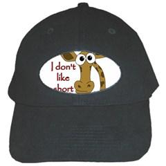 Giraffe Joke Black Cap