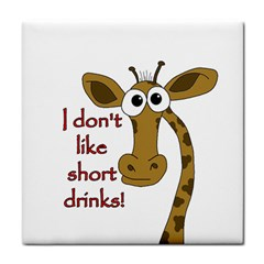 Giraffe Joke Tile Coasters