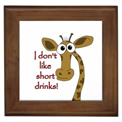 Giraffe Joke Framed Tiles