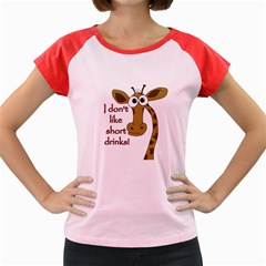 Giraffe Joke Women s Cap Sleeve T Shirt