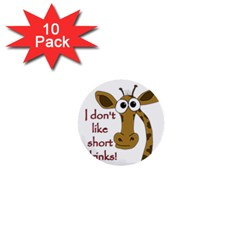 Giraffe Joke 1  Mini Buttons (10 Pack)