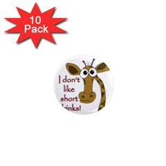 Giraffe Joke 1  Mini Magnet (10 Pack)