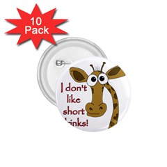 Giraffe Joke 1 75  Buttons (10 Pack)
