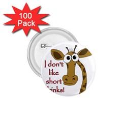 Giraffe Joke 1 75  Buttons (100 Pack)