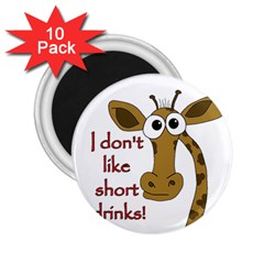 Giraffe Joke 2 25  Magnets (10 Pack)