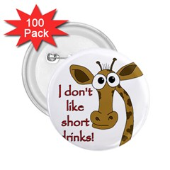 Giraffe Joke 2 25  Buttons (100 Pack)