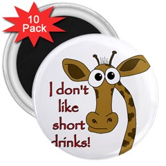 Giraffe Joke 3  Magnets (10 Pack)