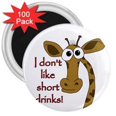 Giraffe Joke 3  Magnets (100 Pack)