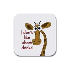 Giraffe Joke Rubber Coaster (square)