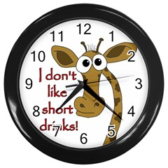 Giraffe Joke Wall Clocks (black)