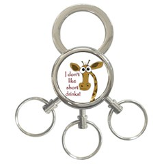 Giraffe Joke 3 Ring Key Chains