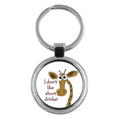 Giraffe Joke Key Chains (round)
